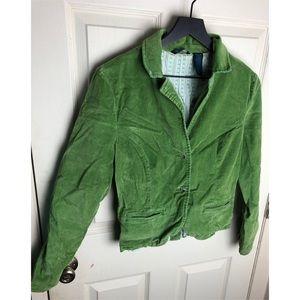 Roxy xl green corduroy blazer jacket